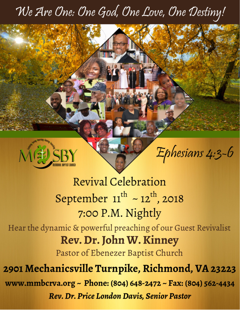 Fall Revival @ Mosby Memorial Baptist Church | Richmond | Virginia | United States