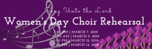 Women's Day Choir Rehearsal